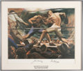 Boxing Collectibles:Autographs, Jack Dempsey and Gene Tunney Living Legends Dual-Signed Print. ...