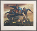 Football Collectibles:Balls, Red Grange Living Legends Signed Print. ...