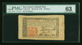 Colonial Notes:New Jersey, New Jersey March 25, 1776 18d with John Hart signature PMG ChoiceUncirculated 63....