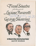 Music Memorabilia:Autographs and Signed Items, Luciano Pavarotti Signed Program Book....