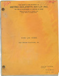 Music Memorabilia:Documents, Viva Las Vegas Shooting Script, Signed by Set Decorator George R. Nelson. ...