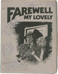 Movie/TV Memorabilia:Autographs and Signed Items, Robert Mitchum, Charlotte Rampling, Others Signed Farewell MyLovely Script....
