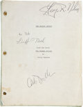 Movie/TV Memorabilia:Autographs and Signed Items, Caleb Deschanel and Griffin O'Neal Signed The Escape ArtistScript....