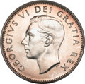 Canada, Canada: George VI 25 Cents 1952 High Relief,...