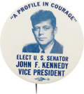 Political:Pinback Buttons (1896-present), John F. Kennedy: Classic 1956 Democratic Convention Button. ...