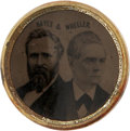 Political:Ferrotypes / Photo Badges (pre-1896), Hayes & Wheeler: Choice 1876 Jugate Ferrotype. ...