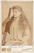 Autographs:Celebrities, Annie Oakley Cabinet Card Signed....
