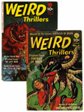 Golden Age (1938-1955):Horror, Weird Thrillers #2 and 4 Group (Ziff-Davis, 1951-52).... (Total: 2Comic Books)