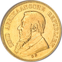 """South Africa: Republic gold Pond 1898 Stamped """"99"""""""