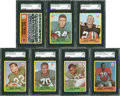 Football Cards:Lots, 1967 Philadelphia Football SGC 88 NM/MT 8 Lot of 7.... (Total: 7 cards)