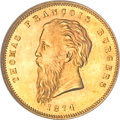 South Africa, South Africa: Republic gold Pond 1874,...