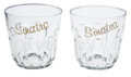Movie/TV Memorabilia:Memorabilia, Frank Sinatra Related - Jilly Rizzo's Sinatra Cocktail Glasses....