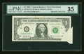 Error Notes:Attached Tabs, Fr. 1921-D $1 1995 Federal Reserve Note. PMG Choice Very Fine 35.....