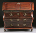 Furniture : French, A FRENCH PROVINCIAL WALNUT SLANT FRONT DESK. Lyon, 18th Century. 43 x 44 x 28 inches (109.2 x 111.8 x 71.1 cm). ...