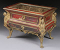 Furniture : French, A MINIATURE FRENCH GILT BRONZE MOUNTED TORTOISESHELL VITRINECOMMODE. 19th Century. 10-3/4 x 15 x 10 inches (27.3 x 38.1 x 2...(Total: 2 Items)