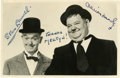 Movie/TV Memorabilia:Autographs and Signed Items, Stan Laurel and Oliver Hardy Signed Photo....