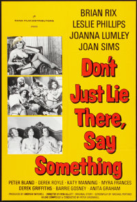 "Don't Just Lie There, Say Something (Rank, 1973). One Sheet (27"" X 41""). Comedy"