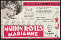 "Movie Posters:Drama, Marianne (MGM, 1929). Herald (Folded Out, 5.75"" X 8.75""). Drama.. ..."