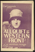 "Movie Posters:War, All Quiet on the Western Front (Universal, 1930). Program (MultiplePages, 5"" X 8.5""). War.. ..."