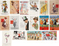 Political:Miscellaneous Political, Woman's Suffrage: Lot of Sixteen English Color Comic Suffrage Postcards.... (Total: 16 Items)