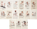 "Political:Miscellaneous Political, Woman's Suffrage: Lot of Fifteen Whimsical Color ""Vote for Wimmen""Postcards by Cobb Shinn.... (Total: 15 Items)"
