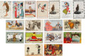 Political:Small Paper (1896-present), Woman's Suffrage: Seventeen Different English Comic Cards....(Total: 17 Items)