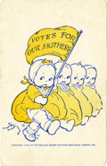 Political:Small Paper (1896-present), Woman's Suffrage: Rose O'Neill Kewpie Doll Card....