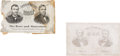 Political:Small Paper (pre-1896), Grant & Colfax and Seymour & Blair: Most Unusual Pair OfChewing Gum Wrappers from the 1868 Election. ... (Total: 2 Items)