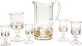 Antiques:Decorative Americana, U.S. Coin Glass: Columbian World's Fair Large Pitcher, One WaterGlass, Two Wine Glasses, and Two Sherry Glasses, 1893. ... (Total:6 Items)