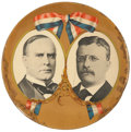Political:3D & Other Display (1896-present), McKinley & Roosevelt: Mammoth Campaign Jugate Celluloid Badge. ...