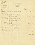 """Autographs:U.S. Presidents, Franklin D. Roosevelt Autograph Document Signed in the Third Person""""F D Roosevelt"""" Regarding Warm Springs Finance..."""