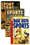 Golden Age (1938-1955):Miscellaneous, Miscellaneous Golden Age Sports Related Comics Group (Various Publishers, 1950s) Condition: Average GD+.... (Total: 13 Comic Books)