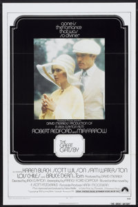 "The Great Gatsby (Paramount, 1974). One Sheet (27"" X 41"") Flat Folded. Drama"