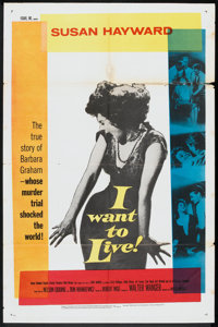 "I Want To Live! (United Artists, 1958). One Sheet (27"" X 41""). Drama"