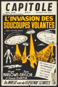 "Movie Posters:Science Fiction, Earth vs. the Flying Saucers (Columbia, 1957). Belgian (14"" X21.5""). Science Fiction.. ..."