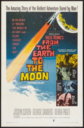 "Movie Posters:Science Fiction, From the Earth to the Moon (RKO, 1958). One Sheet (27"" X 41"").Science Fiction.. ..."