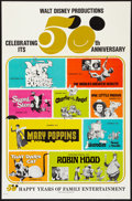 "Movie Posters:Animated, Walt Disney Productions 50th Anniversary (Buena Vista, 1972). OneSheet (27"" X 41""). Animated and Comedy.. ..."