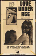 "Movie Posters:Sexploitation, Love Under Age (American International, 1969). One Sheet (27"" X41""). Sexploitation.. ..."