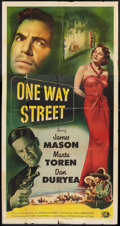 "Movie Posters:Crime, One Way Street (Universal, 1950). Three Sheet (41"" X 81""). Crime....."