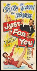 "Movie Posters:Musical, Just For You (Paramount, 1952). Three Sheet (41"" X 81""). Musical.. ..."