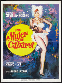 "Una Mujer de Cabaret (Columbia, 1974). Mexican One Sheet (27.5"" X 37.5""). Comedy"