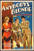 "Movie Posters:Drama, Anybody's Blonde (Action, 1931). One Sheet (27"" X 41""), Pressbook(12"" X 18""), and Herald (6"" X 9.5""). Drama.. ... (Total: 3 Items)"