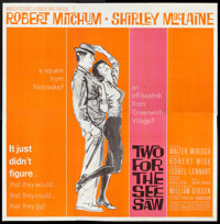 "Two for the Seesaw (United Artists, 1962). Six Sheet (81"" X 81""). Drama"