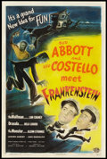 "Movie Posters:Horror, Abbott and Costello Meet Frankenstein (Universal International, 1948). One Sheet (27"" X 41""). Horror.. ..."