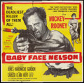 """Movie Posters:Crime, Baby Face Nelson (United Artists, 1957). Six Sheet (81"""" X 81""""). Crime.. ..."""
