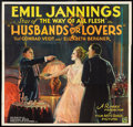 "Movie Posters:Drama, Husbands or Lovers (UFA, 1927). Six Sheet (81"" X 81""). Drama.. ..."