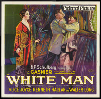 "White Man (Preferred Pictures, 1924). Six Sheet (81"" X 81""). Drama"