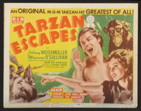"""Tarzan Escapes (MGM, R-1954). Lobby Card Set of 8 (11"""" X 14""""). Adventure. ... (Total: 8 Items)"""