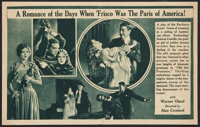 """Old San Francisco (Warner Brothers, 1927). Herald (Folded Out, 7"""" X 11""""). Drama"""