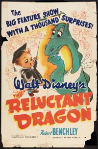 """The Reluctant Dragon (RKO, 1941). One Sheet (27"""" X 41""""). Animated"""
